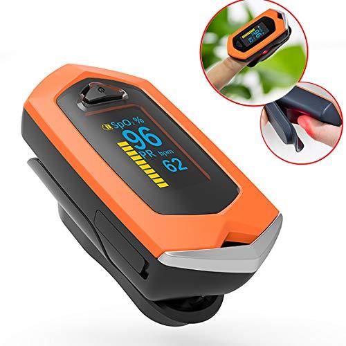 Medizinischer LED-Bildschirm Fingerspitzenpulver Oximeter Blutsaug-Sättelmonitor mit Carrying Case & Lanyard-USB