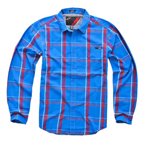 Alpinestars Seven Longsleeve Shirt Blue Small (Alpinestars Shirt Sleeve Long)