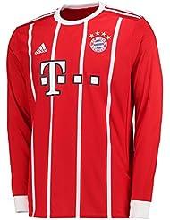 adidas Herren FC Bayern München Home Trikot LS 17/18