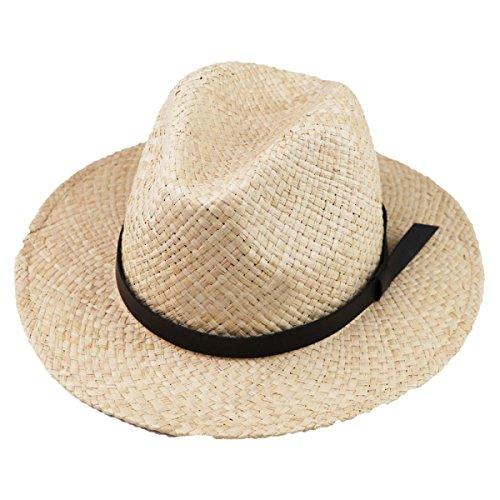 Viaggi Sole Crema Solare Fatto A Mano Cappello Di Paglia Cappello Cappello Da Cowboy,Beige-63CM