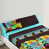Burrito Blanco - Juego de sábanas Fashion 74 para cama 90x190/200 cm, color chocolate