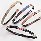 Pack of 4 Headbands, vintage look with beautiful floral print