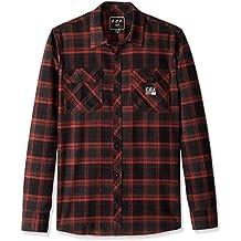 2b00b3228 Fox Hombre 22065 Manga Larga Camisa de Botones - Rojo - Small