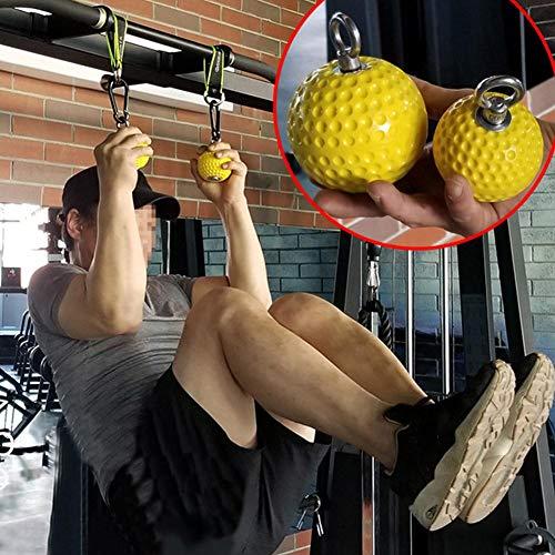 Grip Power Bälle Fitness Kleine Klimmzugbälle Cross-Fit Klettern, Gymnastik, Krafttraining, Klimmzug-Griff-Design, Muskeln, erhöhen die Calisthenik Rock Handgelenk Klimmzüge Ausrüstung Zeigen, merhfarbig, S: 7.2CM/2.83in