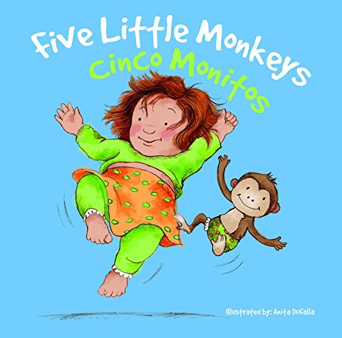 Cinco Monitos: Five Little Monkeys (Nursery Rhymes) por Rhea Wallace