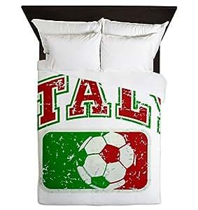 Queen Italie Football-Housse de couette-Drapeau Italie Grunge