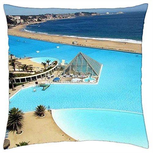 San Alfonso Del Mar resort - Throw Pillow Cover Case (18 (Resort Mar Del)