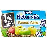 Nestlé Bébé Naturnes Pommes Coings - Compote dès 4 - 6 Mois - 4 x 130g - Lot de 3