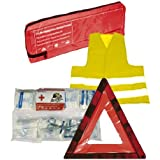 3in1Car Trio Combi Bag Dressing Case + Vest + Warning Triangle First Aid Kit to DIN 131642014medical bag