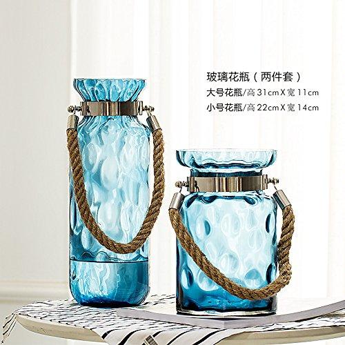 Alileo Transparent Glass Vase Vase Floral Decoration Room Water Container, Tuba Trumpet