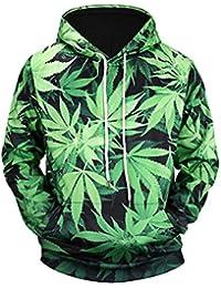 Hombres Y Mujeres Amantes Sueltos De Gran Tamaño Estilo Callejero HD Imprimir Hojas De Cannabis Suéter con Capucha Sudaderas con Capucha…