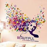 Tapetenaufkleberpersönlichkeiten, kreative Figuren, Köpfe, Blumen, abstrakte Kunst, Tapeten, verzierte Wohnzimmerräume