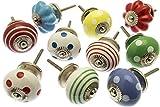 Set misto di pomelli colorati e brillanti per armadietti,10 pezzi (MANGO-98)