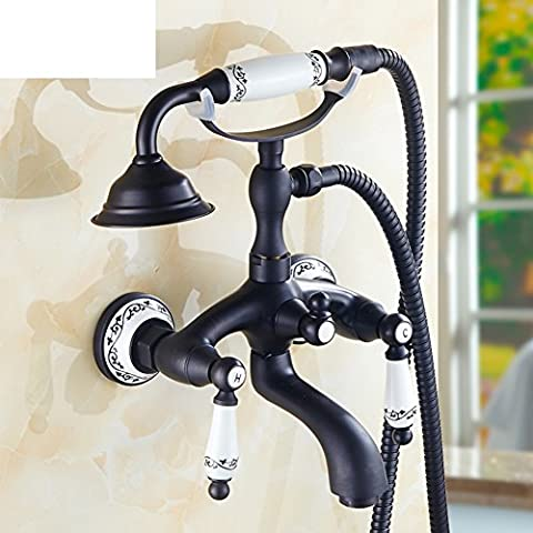 Schwarz antike voll Kupfer Dusche-Kit/Vereinfachte unter Druck stehenden Mischventil Wasserhahn