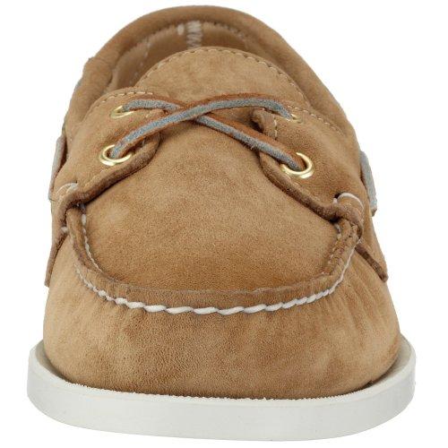 Sebago Docksides Chaussures Bateau Homme Beige (Daim couleur sable)