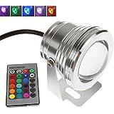 Lampara para jardín, luces de 12V SDD-RGB, 10W. Foco impermeable con haz de luz LED para piscinas o iluminación de paisaje al aire libre