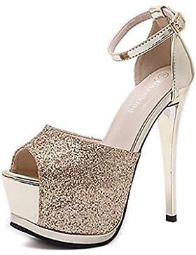MNII Tacones Primavera Club Zapatos Vestido De Tela TacóN De Aguja Cristal Brillante Zapatos De Moda