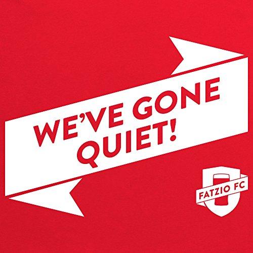 Fatzio FC We've Gone Quiet! T-Shirt, Herren Rot