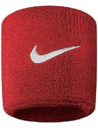 Nike Swoosh Wristbands 9380/4, Rot/Weiss