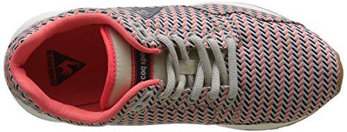 Le Coq Sportif Damen Lcs R900 Geo Sneakers Grau (Gray Morn/Fiery CoraGray Morn/Fiery Cora)