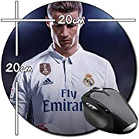 Cristiano Ronaldo Real Madrid CR7 E Alfombrilla Redonda Round Mousepad PC