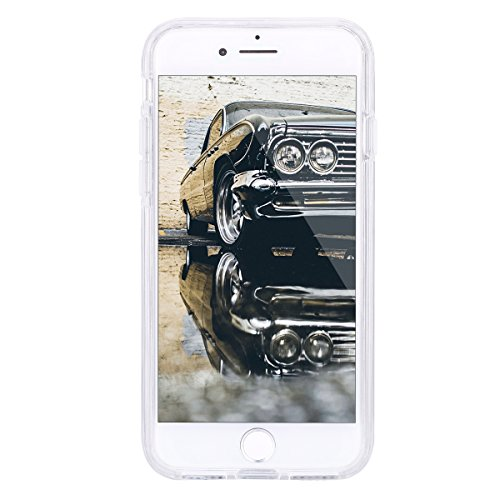 2017 Ekakashop iphone 7 4.7 pollici Custodia, 2-in-1 ultra sottile-Fit molle flessibile di caso Cover posteriore per iphone 7, Ragazza Ragazzo Crystal Clear Soft Cover gel TPU Silicone Protezione Sott B #2