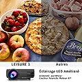 VANKYO LEISURE 3 Vidéoprojecteur Portable 2400 Lumens LED Mini Projecteur LCD Rétroprojecteur Soutien HD 1080p et 170 '' Affichage pour HDMI, AV et VGA Compatible avec Fire TV Stick / Laptop / DVD / PS3 / Xbox / TV box Via Entrée HDMI pour Cinéma Privé /