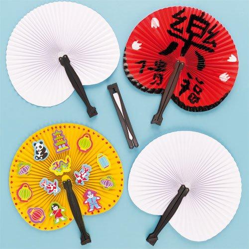 Baker Ross Abanicos chinos plegables que los niños pueden decorar y exhibir...