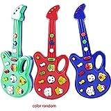Uokoki Bebé animal plástico Mini Kids Música de la guitarra eléctrica de dibujos animados Aprender los