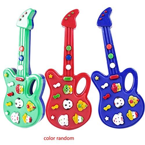Aiming Bebé Animal plástico Mini Kids Música de la Guitarra eléctrica de Dibujos Animados Aprender los niños Juguetes educativos del Instrumento Musical Color al Azar