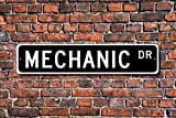 Diuangfoong Mechaniker-Geschenkschild, Auto-Reparatur, Autohändler, Auto-Reparatur, Garage, Custom Straßenschild, Hochwertiges Metallschild