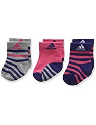adidas Stripy Ankle 3P - Calcetines para niño