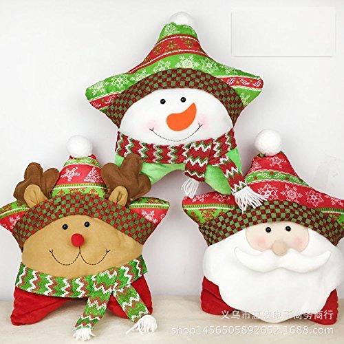 Xizi Weihnachten Schneemann benutzerdefinierte Stern Kissenhülle dekorative Dekor für Couch-Bett-Stuhl 18-Zoll x (Schergen Dekoration)