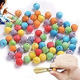 Munizioni a fionda Proiettile da tiro a Fionda professionale Realizzato in cartaceo e può essere utilizzato più volte.1,6cm/0,63In, 100pezzi (confezione squisita.Regali per i bambini) (colorful)