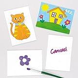 Baker Ross Paneles de Lienzo Que los niños Pueden Pintar y Decorar (Pack de 5).