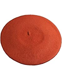 JOYHY Mujer Lana Color Sólido Clásico Estilo Francés Boina Gorro Sombrero b7bd46c060a