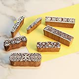 [Sponsored]Craftbell (Set Of 7) Mughal Pattern Hand Carved Wooden Printing Stamp Block - Mehandi Printing / Textile Printing / Pottery Crafts / Saree Border Making / Canvas Printing For Home Décor & Gift Items / Diwali Gift