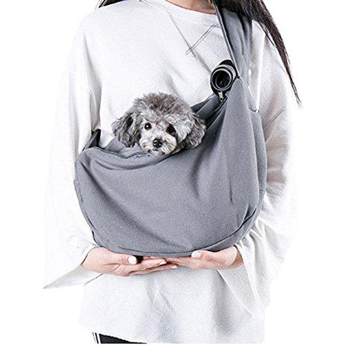 Louvra Hund Tasche Single-Schulter Hunderucksack Katze Umhängetasche