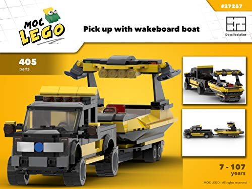 Pick up with wakeboard boat (Instruction Only): MOC LEGO (English Edition)