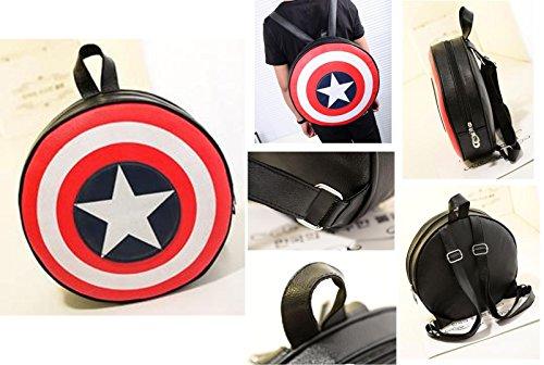 Nido del Bimbo 1000399 - [GRANDE] Zaino Zainetto Borsa Captain America (Capitan) - Scudo Shield 2 dimensioni (Grande 44x44cm) - Pistone Parete