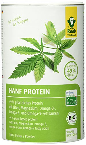 Raab Vitalfood Bio Hanfproteinpulver, 1er Pack (1 x 500 g) - Bio