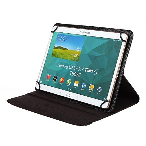 BRALEXX Universal Tablet PC Tasche passend für Asus Transformer Pad TF303K, 10 Zoll, Schwarz