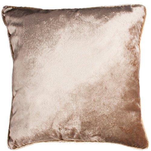 McAlister Textiles - Luxury Kollektion | Glänzender Samt Kissenbezug 50cm x 30cm in Beige | Deko Kissenbezug für Zierkissen, Kissenhülle in luxuriösem Designer Plüsch