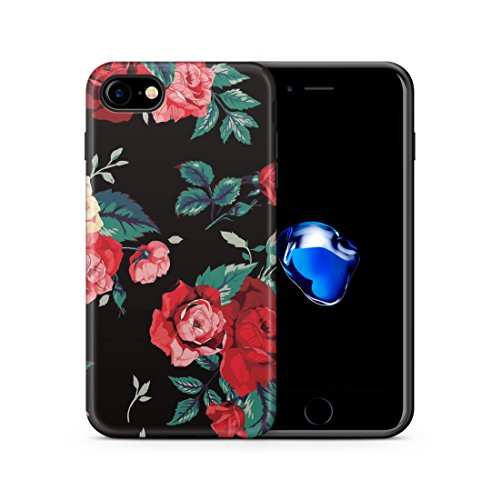 iPhone 6 6S Hülle, Cujas Weiche TPU Silikon Schutzhülle Blickdicht mit IMD Technologie Case Schutz Handyhülle (iPhone 6 / 6S Ananas) Rosen