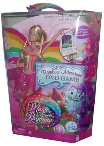 Barbie Fairytopia Magic of the Rainbow 12 Inch Doll - Rainbow Adventure Elina with DVD Game