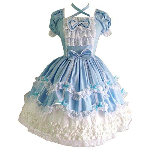 Partiss Damen Prinzessin Kleid Cosplay Partykleid Kostueme Abendkleid Lolita - Comic-con-kostüme Frauen