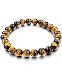 """Hot And Bold """"Certified"""" Natural Gem/Semi Precious Stones Strand Bracelet for Men/Women/Boys/Girls. Daily/Party Wear Fashion Healing Accessories."""