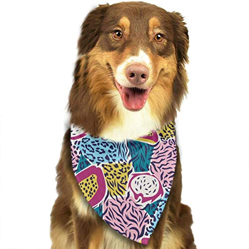 d Spots and Exotic Fruits Triangle Bandana Scarves Accessories for Pet Cats and Dogs - Gifts ()
