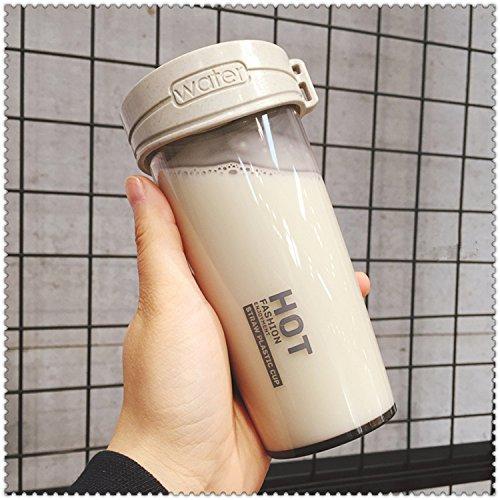 Damlonby Anti-choc facilement tasse en plastique de petit bol d'eau douce, gris