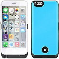 "JAMMYLIZARD | iPhone 6 Plus und 6s Plus 5.5"" Leder Power Bank externer Akku Schutzhülle 9000mAh, BLAU"